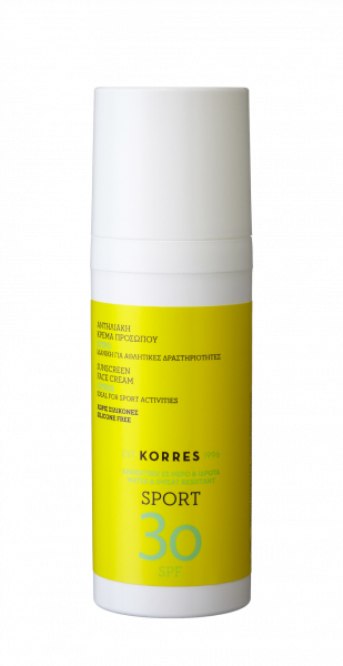 KORRES Sun Care CITRUS Active Sports Face Cream - Pleťový opalovací krém SPF30, 50 ml