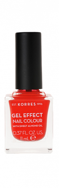 KORRES Gel-Effect Nail Colour - gelový lak na nehty,45 Coral, 11 ml