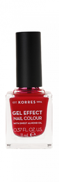 KORRES Gel-Effect Nail Colour - gelový lak na nehty, 51 Rosy Red, 11 ml