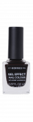 KORRES Gel-Effect Nail Colour - gelový lak na nehty, 76 Smokey Plum, 11 ml