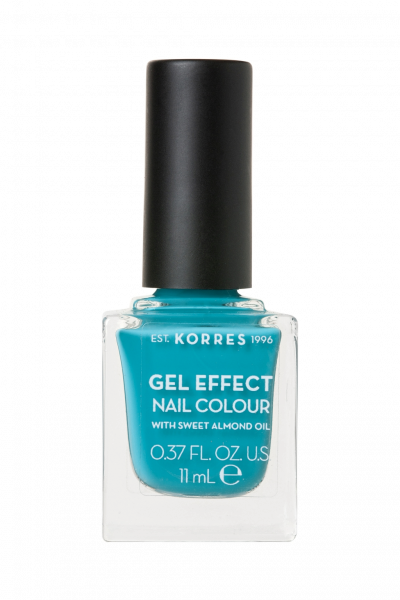 KORRES Gel-Effect Nail Colour - gelový lak na nehty, 82 Pool Waves, 11 ml