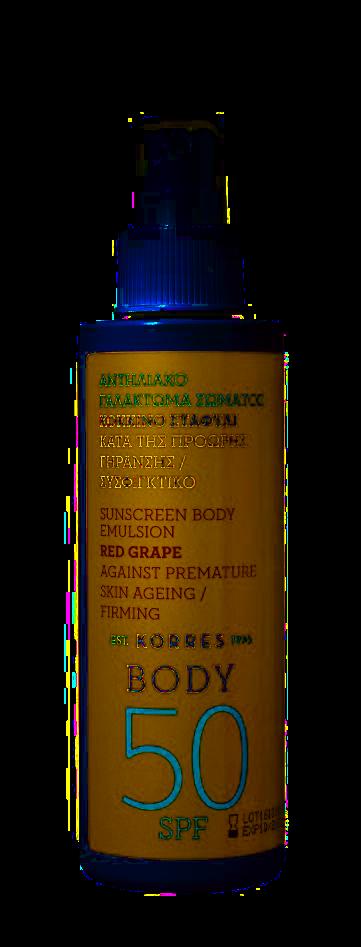 KORRES Red Grape – opalovací tělová emulze ve spreji SPF 50, 150 ml