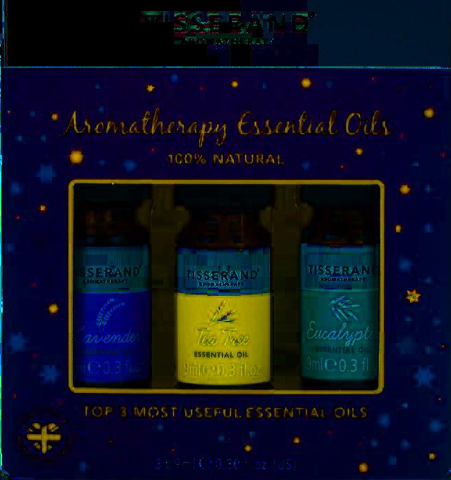 Tisserand Aromaterapeutická sada nezbytných olejů v dárkovém balení, 3x 9 ml