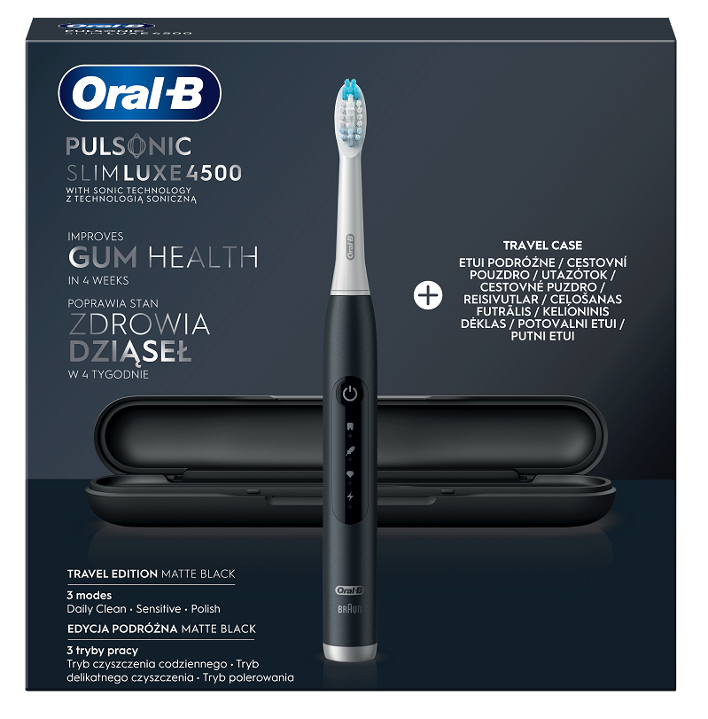 Oral-B Pulsonic Slim Luxe 4500 Matte Black Travel Edition