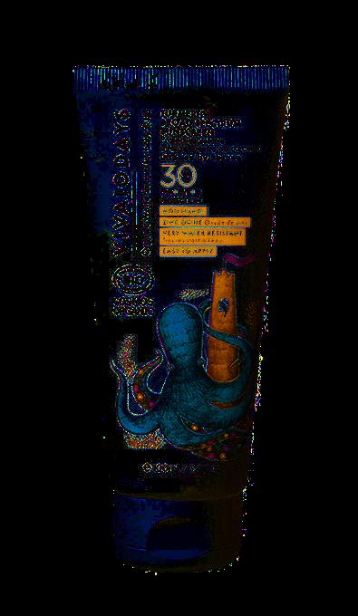 VIVAIODAYS BIO Voděodolný opalovací krém SPF 30 s kurkumou, 100 ml
