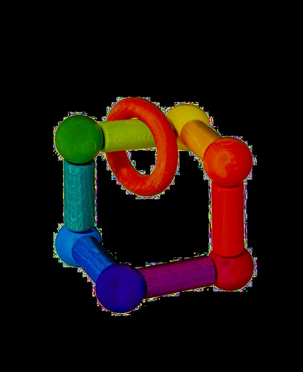 Kugel dřevěná hračka s kroužkem