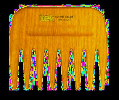 Tek AFRO COMB hřeben s širokými zuby oranžový