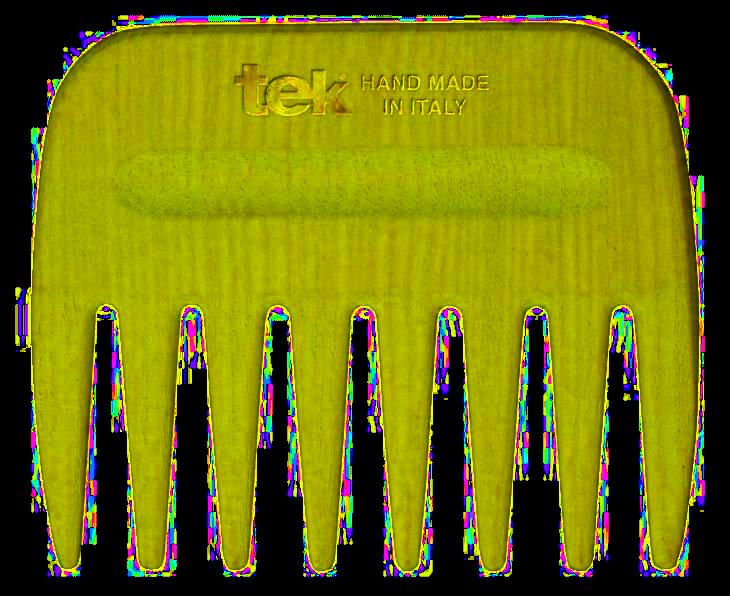 Tek AFRO COMB hřeben s širokými zuby žlutozelený